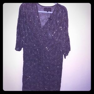 New with tags needle and thread beaded sheer dress